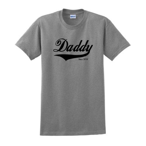 Daddy Since 2014 T-Shirt Large Sport Grey front-885500