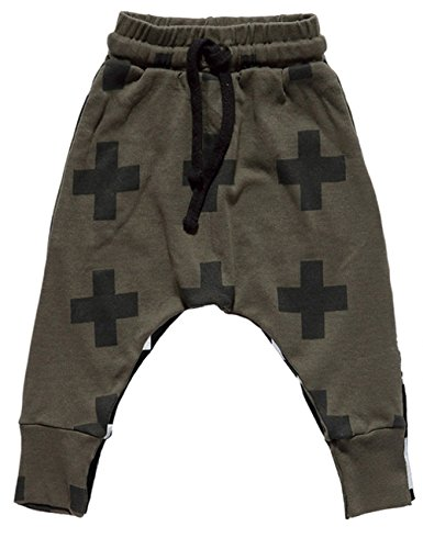 CM-Kid Little Boys The Cross Printed Toddlers Trousers Cotton Harem Pants