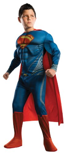 Man Of Steel Deluxe Superman Children'S Costume, Large front-1067501