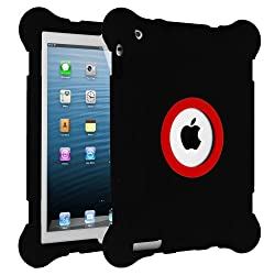 HHI iPad 4 with Retina display / The new iPad (3rd Generation) / iPad 2 Kids Fun Play Armor Protective Case - Black (Package include a HandHelditems Sketch Stylus Pen)