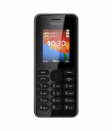 Nokia 108 (Dual SIM, Black)
