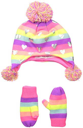 The Children's Place Baby Trapper Hat and Mittens, Multi, Small/12-24 Months