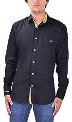 Kriva Enterprise Men's Casual Shirt (Kriva5_XL, Black, XL)