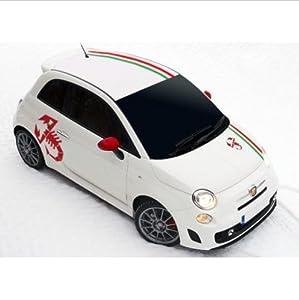 Amazon.com: Fiat 500 side decal set Abarth Scorpion 7 pcs