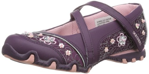 Skechers 999950L BKLB Bikers Fauna Smooth, Ballerine donna, Plum, 32 1/9