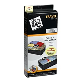 ITW Space Bag BRS-9112ZG Travel Roll-Up Bags, 2 Carry-On and 1 Suitcase Size Bags