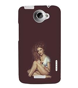 EPICCASE Hot girl Mobile Back Case Cover For HTC One X (Designer Case)