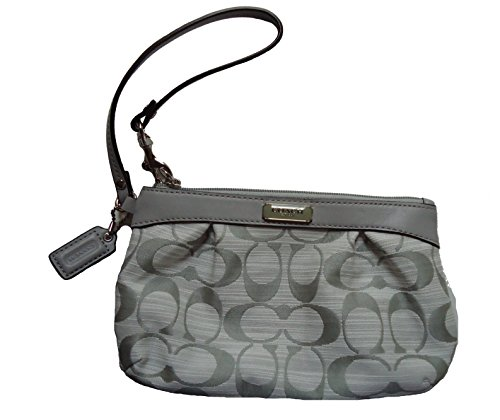 Coach   Coach Shantung Pleated Medium Wristlet 48754