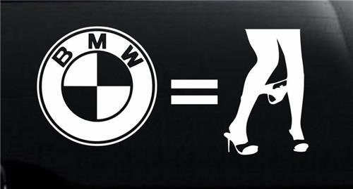 BMW Equals Panty Dropper JDM Decal Vinyl Sticker|Cars Trucks Vans Walls Laptop|WHITE|6 in|CCI402 (Bmw E46 Rims compare prices)
