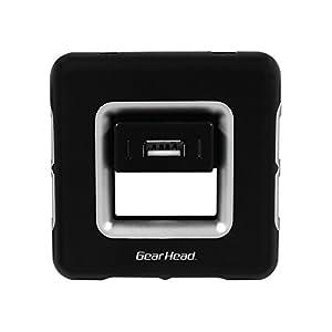 Gear Head USB 2.0 7-Port Hub AC Powered - Black with Silver Accents (UH7200BLK)