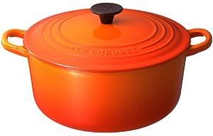 Le Creuset ココット・ロンド 20cm オレンジ