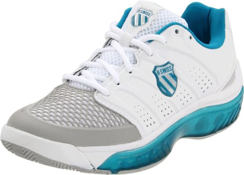 K-SWISS Ladies Tubes Tennis 100 Shoes, White/Blue, UK6