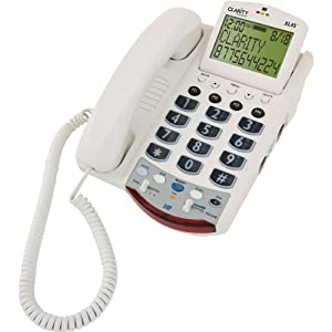Xl45D Amplified Corded Telephone With Large Lcd Caller Id - 50Db Speakerphone by Clarity