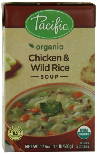 Pacific Natural Foods Organic Chicken With Wild Rice Soup, 17.6-Ounce Boxes (Pack of 12) (Chicken Wild Rice Soup compare prices)