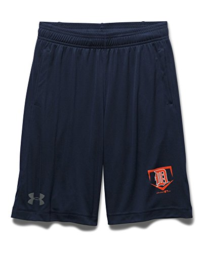 Under Armour Big Boys' Detroit Tigers UA Raid Shorts Youth Small Midnight Navy