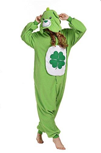 Newcosplay Polar Fleece Unisex Gloomy Bear Pajamas (L, Green Bear) (Adult Care Bear Costume compare prices)