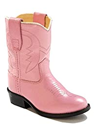 Old West Toddler-Girls\' Cowboy Boot Pink 4.5 D(M) US