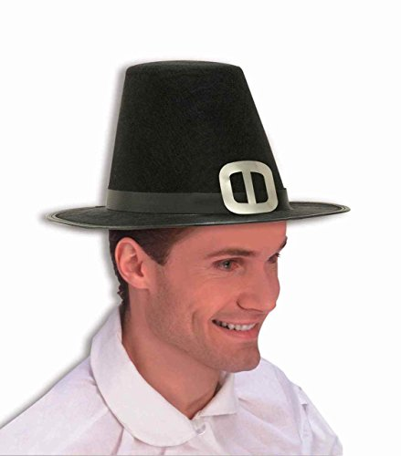 Pilgrim Hat Thanksgiving Adult Buckle Amish Colonial Quaker Puritan Salem