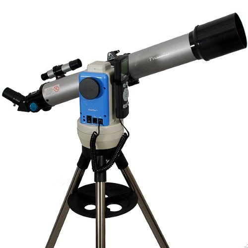 Twinstar Silver 70Mm Ioptron Computerized Gps Equatorial Refractor Telescope
