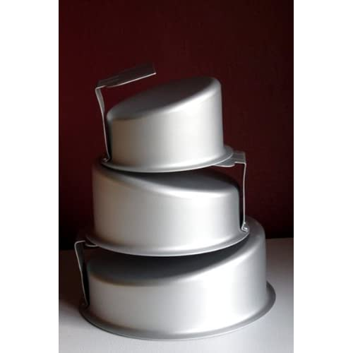 Round topsy turvy cake pans set of 3 kitchen for Kitchen set cake