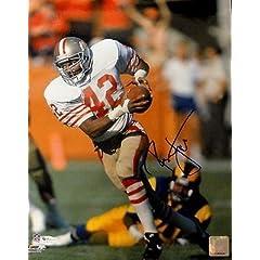 Signed Ronnie Lott Photograph - 11x14 49er OA 8272442 - Autographed NFL Photos by Sports Memorabilia