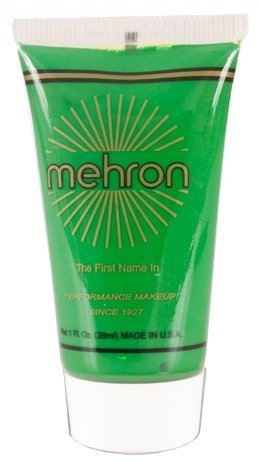 Mehron Fantasy FX Face Painting Makeup 1 Ounce - Kelly Green