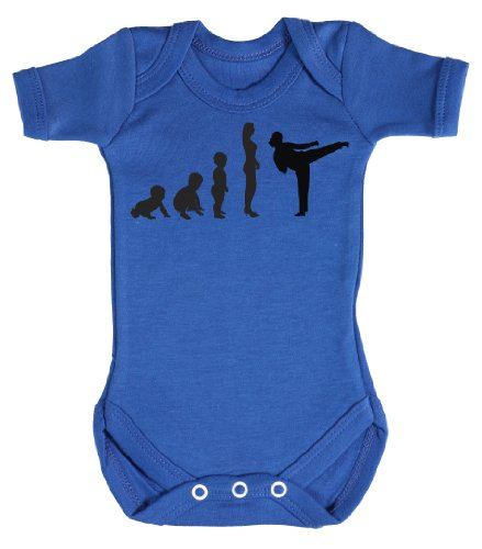 Baby Buddha - Evolution To A Karate Girl Baby Bodysuit Baby Top 6-12M Blue front-753983