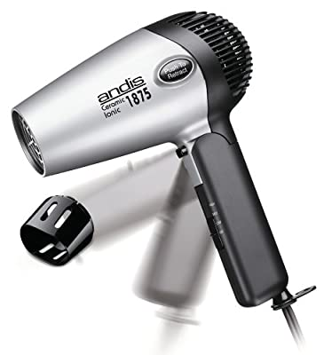 Andis RC-2 Ionic1875W Ceramic Hair Dryer , Silver/Black (80020) by Andis
