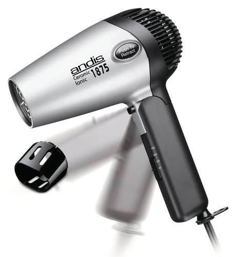 Andis RC-2 Ionic1875W Ceramic Hair Dryer with Folding Handle and Retractable Cord (80020)