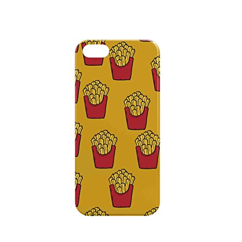 Case IPHONE 5/5S - French Fries Pattern - 3D Case - Hard Slim Case - Designed by TTG - 100% (Iphone 5s French Fries 3d Cases compare prices)
