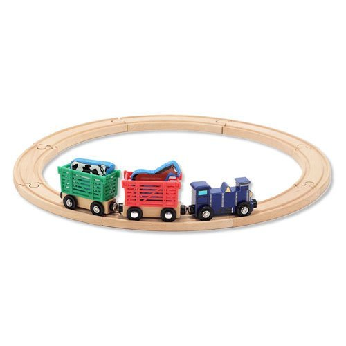 Toy / Game Animal Train Set - Farm With 8 Pieces Of Circular Track - An Ideal Start For Young Train Enthusiast