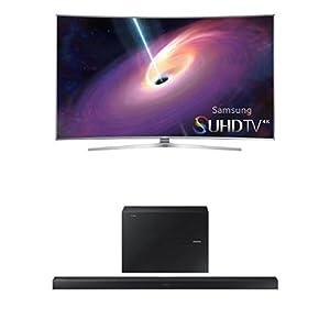 Samsung UN65JS9000 Curved 4K TV with HW-J650 Sounbar by Samsung