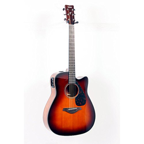 Yamaha Fgx700Sc Solid Top Cutaway Acoustic-Electric Guitar Brown Sunburst 888365279558