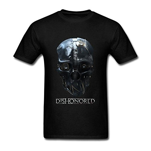 Customized O Neck T Shirts for Mens 100% Organic Cotton-Dishonored 2 Mask Poster
