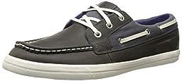 Helly Hansen Men\'s Framnes Boat Shoe, Mid Grey/Ebony/Lake Purple, 10 M US