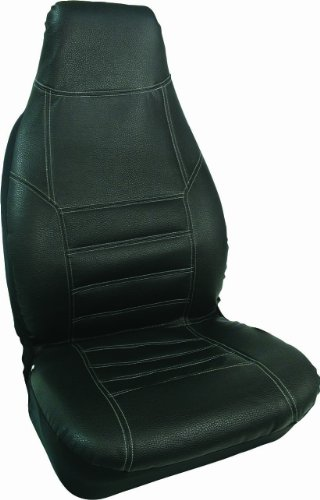 Bell 22-1-55368-8 Black Leather Sport Seat Cover front-160660