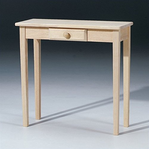 International Concepts OT-3012 Rectangular Hall Table, Unfinished