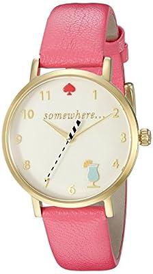 kate spade new york Women's 1YRU0834 Metro Analog Display Japanese Quartz Pink Watch from kate spade new york MFG