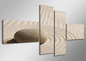 Cuadros en Lienzo 160 cm (SPA piedras Nr. 6522) Listos para colgar, de la marca Visario