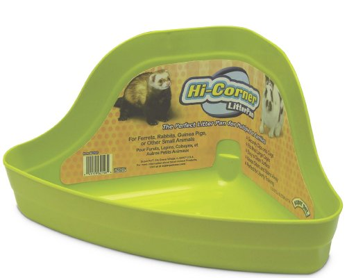 Super Pet Ferret Hi-Corner Litter Pan, Colors Vary
