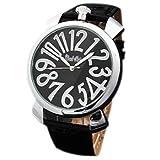 ・メンズ レディース腕時計 アナログ トップリューズ式ビッグフェイス腕時計 シルバー/ブラック