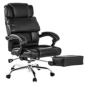 BTM LUXURY HIGH BACK EXECUTIVE FAUX LEATHER OFFICE CHAIR SWIVEL Recliner And