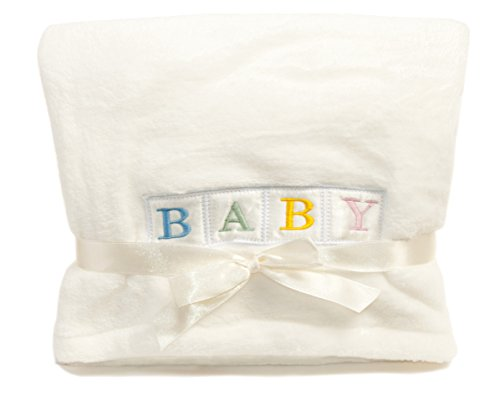 "Observ ""BABY"" Baby Blanket - Ultra Plush and Lightweight Stroller and Crib Blanket"