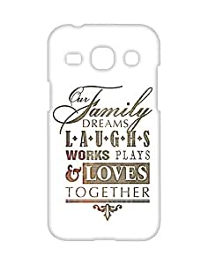 Mobifry Back case cover for Samsung Galaxy Core Plus Mobile ( Printed design)
