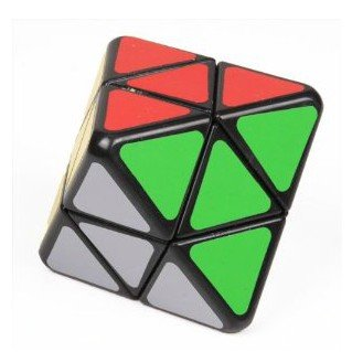 Lanlan 4-axis Octahedron Cube Puzzle Diamond Shape . Black - 1