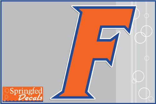 "Florida Gators Orange Block F Logo 12"" Vinyl Decal Car Truck Window Uf Baseball Sticker"