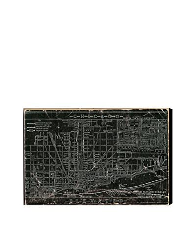 Oliver Gal Hatcher & Ethan 'Chicago Railroad' Canvas Art