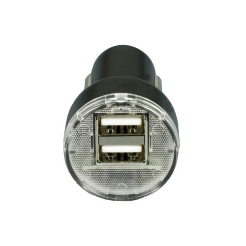 Xtra-Funky Exclusive Universal USB 12/24v - 1A - 2.1A (2.1A Power Perfect for iPads) DUAL Port Car Charger Adapter & USB Sync Data Charger Cable for Various Mobile Devices Like - iPod, iPad, iPhones / Kobo E-readers / MP3 Player / Mobile Phones / Sat nav
