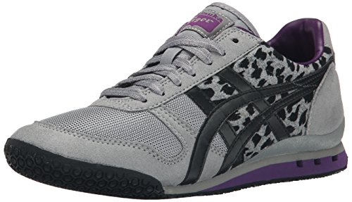 Onitsuka Tiger Women's Ultimate 81 Classic Running Shoe, Light Grey/Black, 11 M US