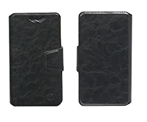 J Cover Bonded Series Leather Pouch Flip Case With Silicon Holder For BLU Life One M Black
